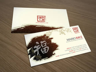 Oriental china business card by Lemongraphic