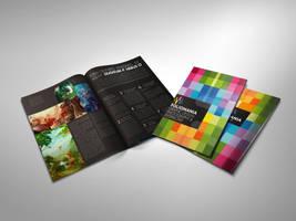 Foliomania designer portfolio brochure by Lemongraphic