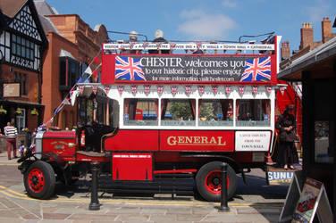 Vintage tour bus by sicklittlemonkey