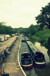 Narrow boats by sicklittlemonkey