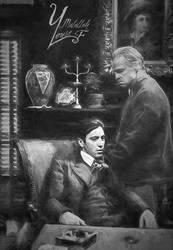 Al Pacino And Marlon Brando by YousefMalallah