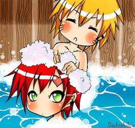 GaaraNaru - hot springs by DarkSahdow