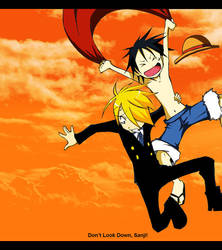 One Piece + Free Fall + by DarkSahdow