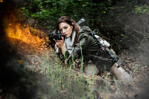 Rise of the Tomb Raider - Rifle and Explosions by JadeSura