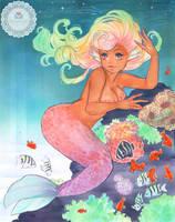 COMMISSION: Pastel Mermaid by kaitquefait