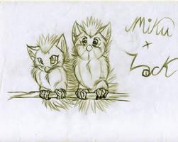 Miku and Lock Baby Furby by KasaraWolf