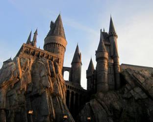 Sunset at Hogwarts by KasaraWolf