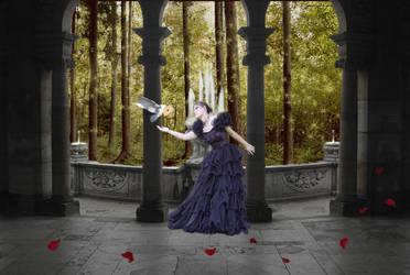 Lady in the castle by OanaOaniii