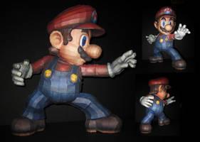 SSBB Mario Papercraft Angles by TouchFuzzyGetDizzy