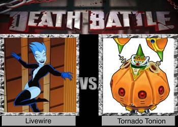 DEATH BATTLE! Livewire vs. Tornado Tonion by PrinceSpikeRoseredII