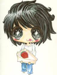 L loves his cake by HitsujiKawaii
