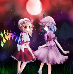 Scarlet sisters by HitsujiKawaii