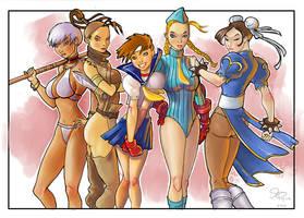Street Fighter Girls by jFury