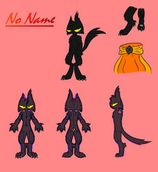 No Name Fursuit/Cosplay Reference Sheet by TheEpicBlueKnight