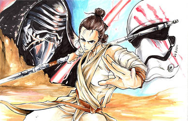 Copic Markers- Rey by ExShen