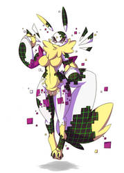 Glitch, The Virus Renamon. by Wouhlven