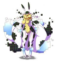 Kyubi-Glitch, The Virus Kyubimon by Wouhlven