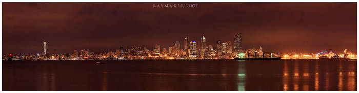 Seattle Cityscape by Raymaker
