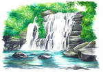 Waterfall by Wuhven