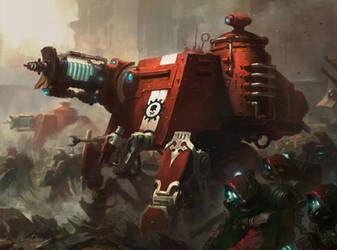 Warhammer 40000 'Skitarii Onager Dunecrawler' by Doo-chun
