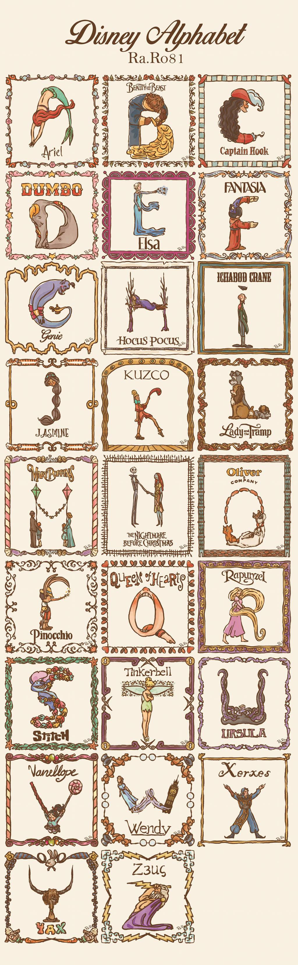 Disney Alphabet by RaRo81