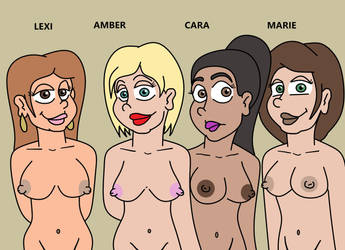 Girl's Night Out, Gone wrong! Character Designs by Hitchart