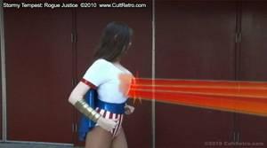 Superheroine's Chest Beam by accomics