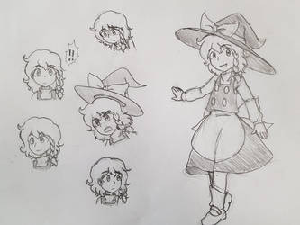 Marisa Sketch by GiantCaveMushroom