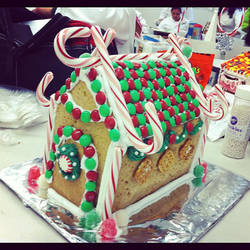 Merry Chirstmas!! My Gingerbread House by relzodiac
