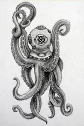 Octopus diver by BarboraT