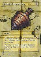 mtg Altered - Sensei's Divining Top Ancient BP by ClaarBar