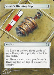 mtg Altered - Sensei's Divining Top Dig by ClaarBar