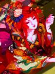 red geisha-close up by jounetsunoakai