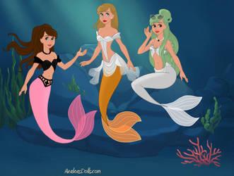 Celebrity Mermaids by ArtsyCraft101