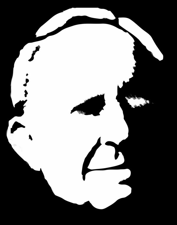 Silhouette of J. R. R. Tolkien's Face by MHShokuhi