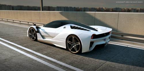 A white Ferrari ?? by wizzoo7
