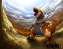 Pokemon - Tyrantrum by Hattori-Hako