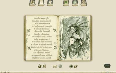 Golden Elvish - Widescreen by WickedDesktop