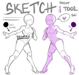 Sketch ii Brush for PTSai by zenarii