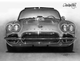 '62 Vette by dangaranart