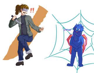 knvs cn cut webs bt lk vsn knvs cn b dull or sharp by BlazingChicken64