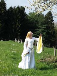 Eowyn White Wool Gown 4 by Lady--Eowyn