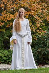 Eowyn White Wool Gown 5 by Lady--Eowyn