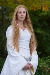 Eowyn White Wool Gown 6 by Lady--Eowyn