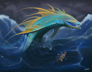 Oceanic Leviathan by TamHorse