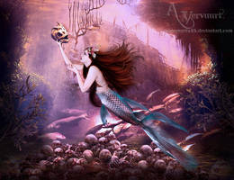 The Mermaid Founds The Skeletons by annemaria48