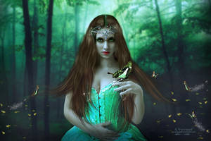 Green butterfly by annemaria48