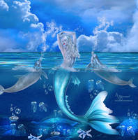 Dolphin mermaid by annemaria48
