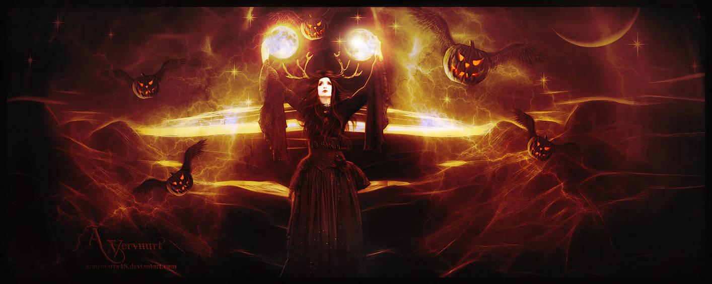 Halloween pumkin night by annemaria48