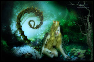 Tentacle princess forest by annemaria48